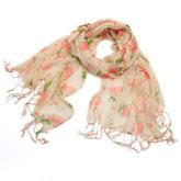 围巾(粉底玫瑰款)