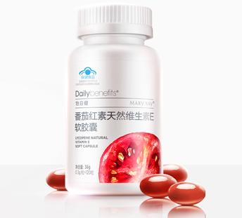 怡日健 番茄红素 天然维生素E软胶囊